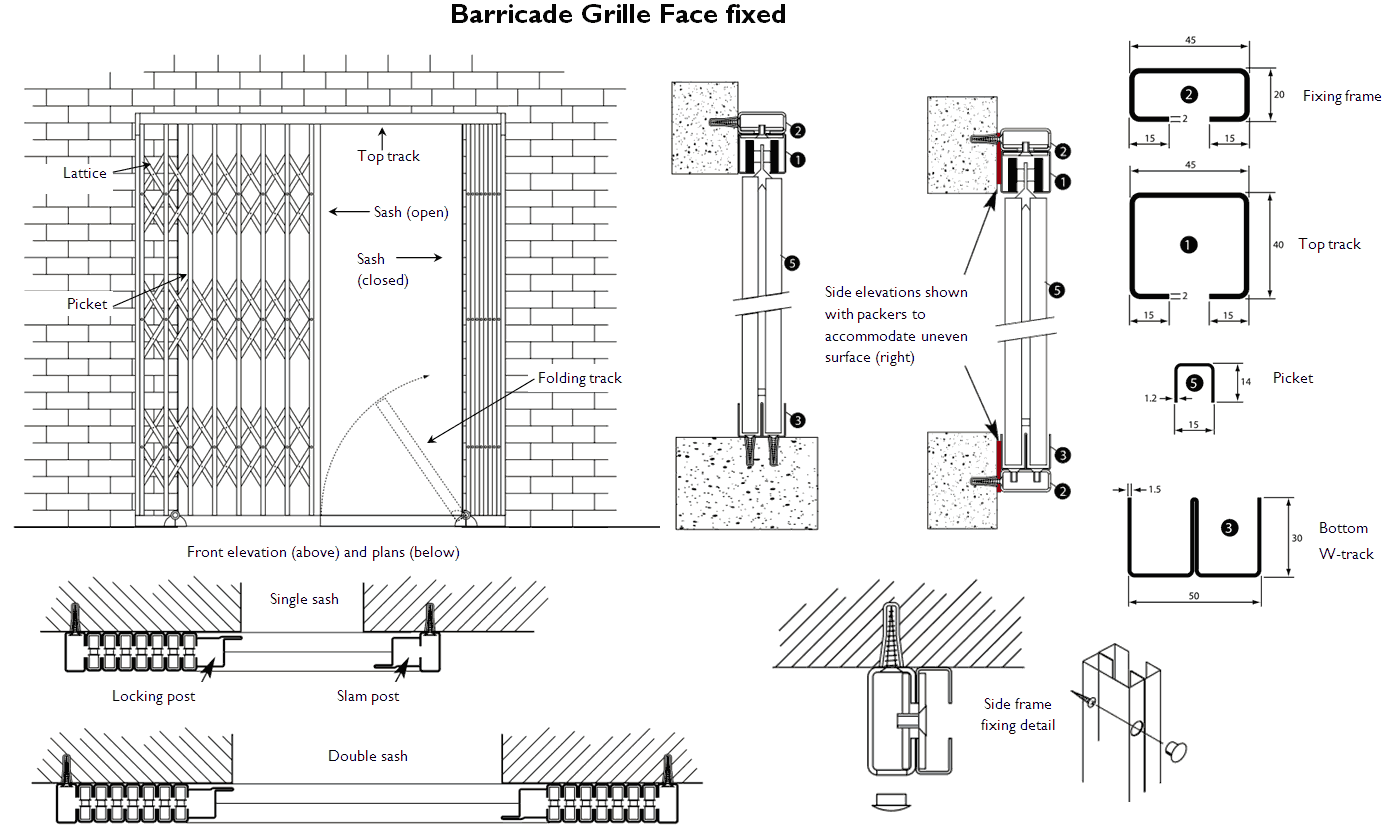 Barricade Collapsible Gate Insurance Rated
