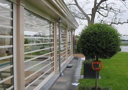 Facade Transparent Polycarbonate Roller Shutters Hvp