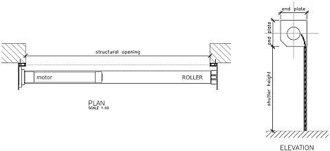 Rolling Door Cad Amp Free Cad Detailsbeam Pocket Detail Iso