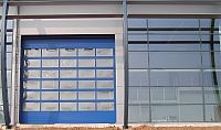 A sectional overhead door.
